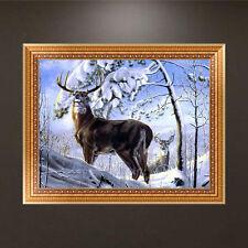 5D DIY Diamond Painting Snow Deer Embroidery Cross Stitch Home Decor