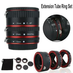 Auto Focus Macro Extension Lens Adapter Tube Rings for Canon EOS EF Mount Camera