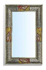 Large Rectangular Silver Moroccan Mirror painting insert  50 cm