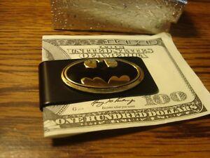 BATMAN Money Clip Embossed Metal Black Finish Slim Metal Money Clip  NEW