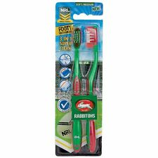 850027 SOUTH SYDNEY RABBITOHS TWIN PACK NRL TEAM FOOTY TOOTHBRUSHES