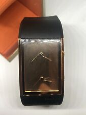 Philippe Starck Watch PH-5025 Black Silicon Band Rose Gold Face