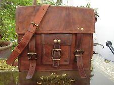 Men's messenger Leather satchel Vintage Leather Bag Shoulder Bag for i Pad