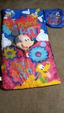 Kids Mickey Mouse Sleeping Bag 50x28 with bag, new open condition