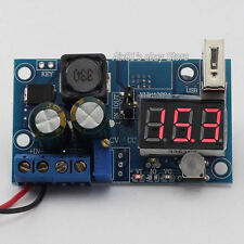 LM2596 DC Power Supply Adjustable Step Down Module Converter LED Voltmeter y USB