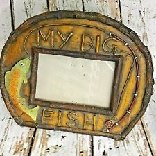 Rustic Look My Big Fish Photo Frame Free Standing or Hanging