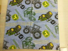 "JOHN DEERE cotton Bandana w/ Tractors in classic green & blue 21"" x 21"" - NEW"