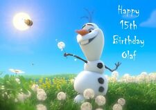 Personalized, Princess Elsa, Anna, Olaf Disney Frozen Birthday Card, Free p&p