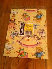unopened package Vintage Gibson baby shower Birthday Christmas Cute gift wrap