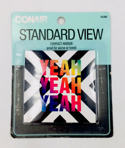 "Conair Standard View Compact Mirror ""Yeah Yeah Yeah"""