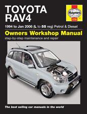 4750 Haynes Toyota RAV4 Petrol & Diesel (1994 - Jan 2006) L - 55 Workshop Manual