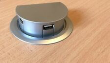 Motorised 'Auto Rise' In Desk 3 Port USB Hub Silver