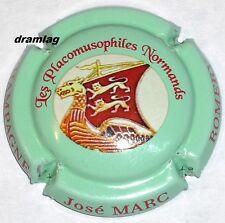 Capsule de Champagne :   MARC JOSE  , Placomusophiles Normands, vert !!! n°44a