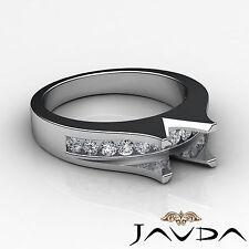 Natural Diamond Engagement Gorgeous Ring Platinum 950 Emerald Semi Mount 0.6Ct