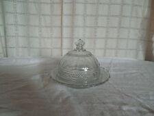 vintage domed glass butter dish