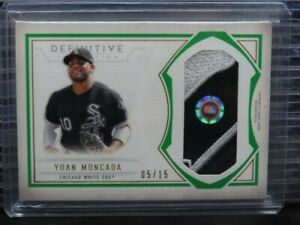 2019 Definitive Yoan Moncada Green Jumbo Patch Relic #5/15 White Sox F28