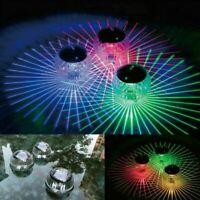 Solar LED Floating Lights Outdoor Garden Pond Pool Lamp Rotating Color Change