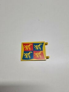 lego flag 6x4 vintage blue and red dragon 2525px5 6086 rare  (J7)