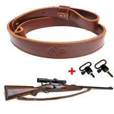 "Leather Rifle Gun Sling, Durable Gun Shoulder Straps With 1"" QD Swivels"
