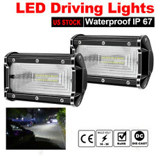 "2x 5""INCH 72W LED Work Light Bar Flood Pods Driving OffRoad Tractor Boat ATV GMC"