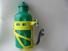 Vintage portabidones bottle Cage amarillo reg Italy bonanza canción muy antigua retro años 70 nos