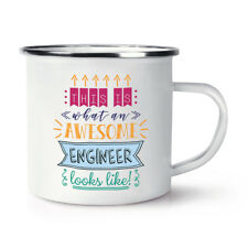 This Is What An Awesome Engineer Looks Like Retro Enamel Mug Cup - Funny Best