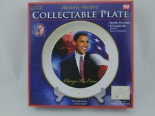 New Authentic Obama Plate Historic Victory Limited Edition As Seen On TV