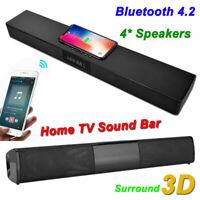 Wireless Bluetooth 4.2 TV Soundbar Speaker Sound Bar Subwoofer for Home Theater
