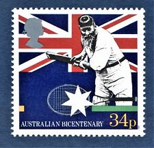 GB W.G Grace Cricketer illustrated on stamp - U/M