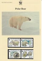 WWF009) WWF Panda, set of 4 FDC and set of 4 mint stamps,  Polar Bears, Russia,