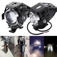 2X 12W U5 Motorcycle Motorbike Headlight LED Fog Spot Lights Bulb Angle Eye Lamp