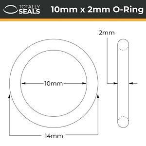 10x2 Viton (FKM) O-rings - 10mm Inner Diameter x 2mm Cross Section (14mm OD)
