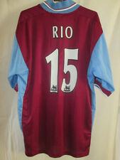 West Ham United 1998-1999 Rio 15 Home Football Shirt Size Medium /16271