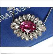New SWAROVSKI Crystal SHOUROUK Pink PENDANT Necklace w Chain Silver Jewelry Gift