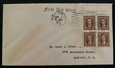 1937 Montreal Canada First Day Cover Fdc To King George Vi Coronation Local