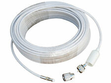 VHF CABLE PACK FOR SEAMASTER ANTENNA - 82 ft COAXIL WITH CONNECTORS- FIVE OCEANS