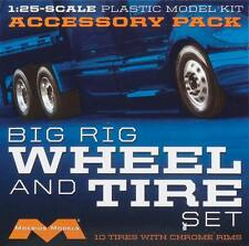 Moebius Big Rig wheel and tire set for model kit new 1010