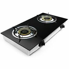 Two Burner Propane Stove Indoor Outdoor Camping Home Gas Range Cooktop Heater