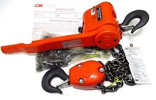 New CM Short Handle Puller 3 TON 5' Lift w/ Load Limiter 7330 7330P Made in USA