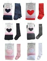 BABY GIRLS SCHOOL PARTY PLAIN COTTON RICH TIGHTS