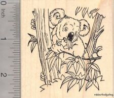 Koala Bear Eating Bamboo Rubber Stamp K18210 WM