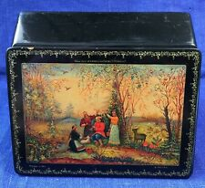 Russian LACQUER Box  /song of Lelia/ Mstera Vintage Art painting Soviet SIGNED