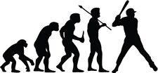 "BASEBALL EVOLUTION Vinyl Decal Sticker-6"" Wide White Color"