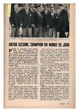 1961 DOCUMENT (ref POT 160) SPORT  : JUDO ANTON GEESINK CHAMPION DU MONDE  1p