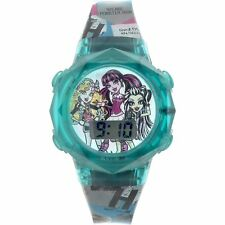 Monster High Girl's Teal Blue Flashing Lights LCD Fashion Watch