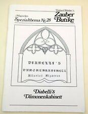 Diabelli´s Dämonenkabinett, A4-Skript, Zauberbutike, Magisches Spezialthema
