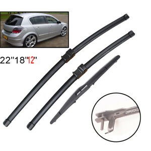 Front Rear Window Windscreen Wiper Blades Set For Vauxhall Opel Astra H 04-09