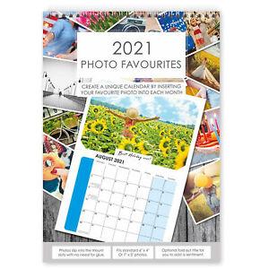 2021 A4 Photo Calendar DIY Personalise with 6'x4' or 7'x5' Photos - 1 calendar