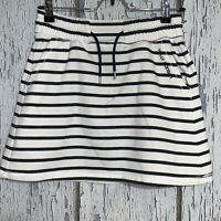 Helly Hansen Women's Blue And White Striped Stretch Skirt Size Small Petite -J3