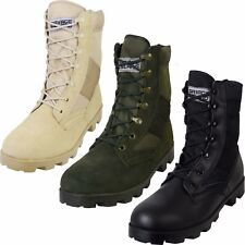 US Army Combat Vietnam Era Jungle Boots Military Panama Sole Speed Laces Leather